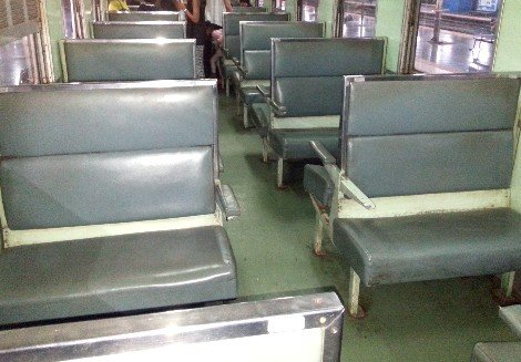 3rd Class Seat on a Thailand Train