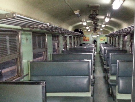 3rd Class carriage on a Thailand Train