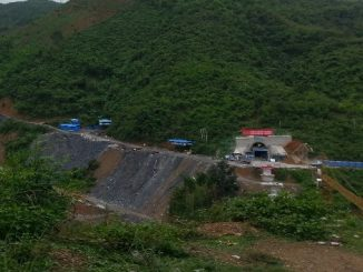Railway tunnel under constuction in Northern Laos