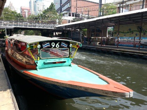 Canal boats are one of the many types of public transport in Bangkok