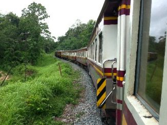 Train on route from Lumphun to Bangkok