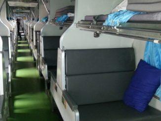 2nd Class AC carriage on the train to Sungai Kolok