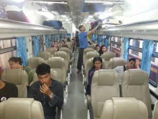 Inside Train 43 to Chumphon