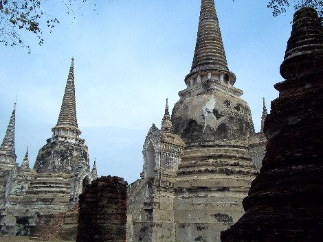 One of the ancient temples in Ayutthaya Historical Park