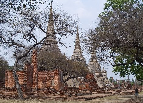 Wat Phra Si Samphet is located in Ayutthaya Historical Park