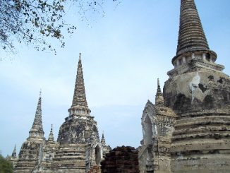 Three prangs of Wat Phra Si Samphet in Ayutthaya Historical Park
